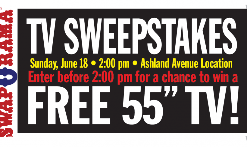 WIN A 55″ T.V. – Sunday June 18th – Ashland Avenue
